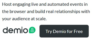 demio webinar coupon code and free trial