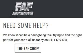 faf automotive australia coupon code