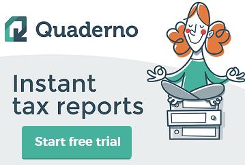 find Quaderno.io discount code here