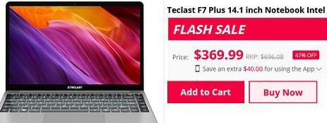 get Teclast F7 Plus coupon code
