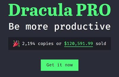 Dracula Pro theme Discount Code